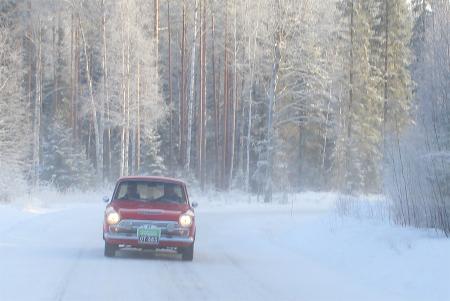 Kuvia Keski-Suomen Mobilistit ry:n Talwiajoista 2017